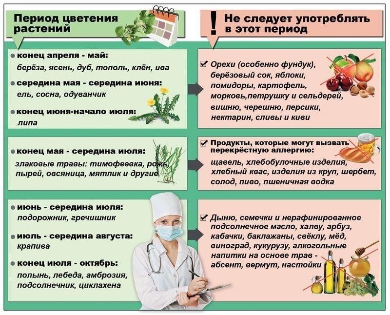 диета при поллинозе на березу